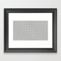 IJzerman Black & White Pattern Framed Art Print