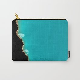 Creeping Teal with a Gold Edge Carry-All Pouch