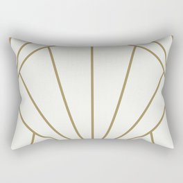 Diamond Series Sun Burst Gold on White Rectangular Pillow