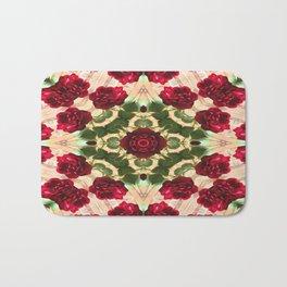 Old Red Rose Kaleidoscope 6 Bath Mat