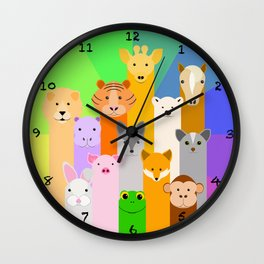 Nursery Animals Wall Clock
