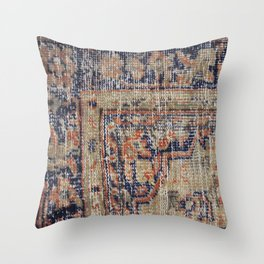 Vintage Woven Blue Throw Pillow