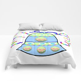 Winged Bell and  Egg Comforters