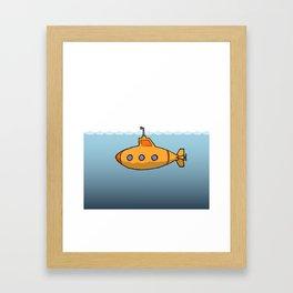 A submarine for exploring Framed Art Print