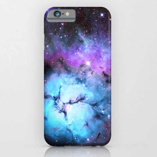 Blue Floral Nebula iPhone & iPod Case