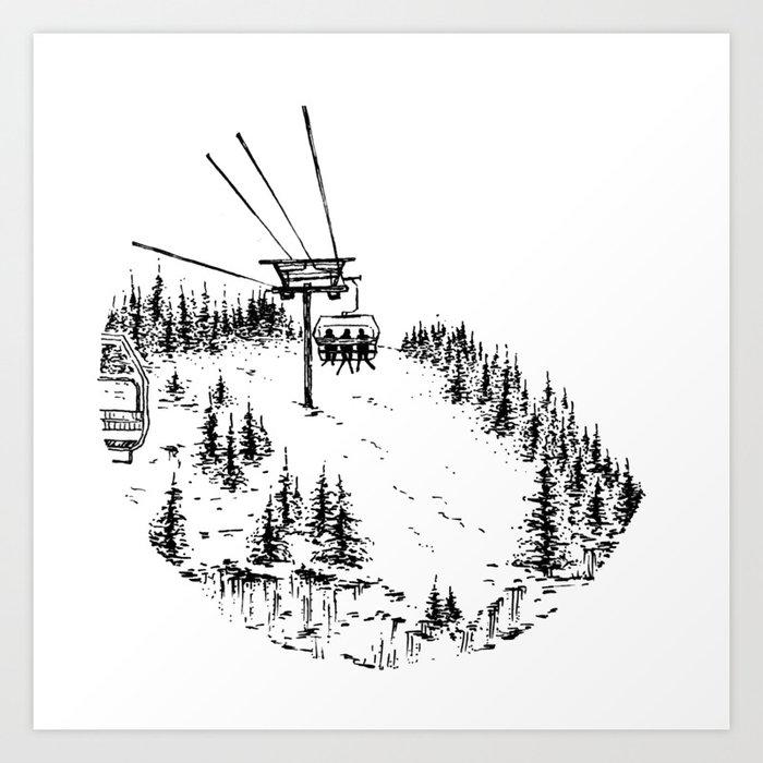 Ski Lift Kunstdrucke