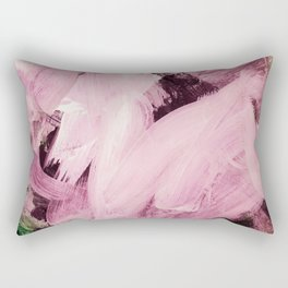 Red Violet on green hues Rectangular Pillow