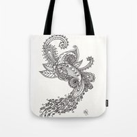 paisley Tote Bags featuring Paisley by Bethany Pease