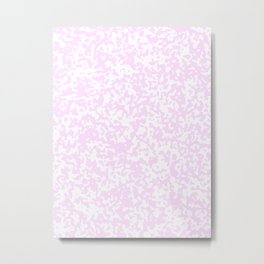 Small Spots - White and Pastel Violet Metal Print