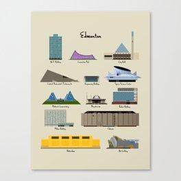 Edmonton Modern Buildings Canvas Print