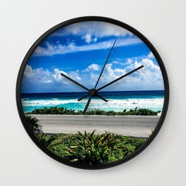 Cozumel Coastline Wall Clock