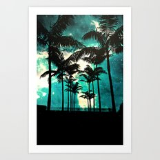Palm Trees & Stars Art Print