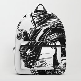 Woman Motorcycle Rider Backpack