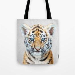 Baby Tiger - Colorful Tote Bag