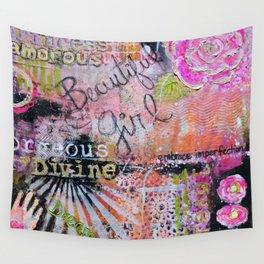 Beautiful Girl Wall Tapestry