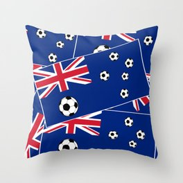 Australian Flag Football Throw Pillow