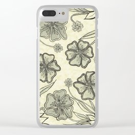 Pansy Perfection Clear iPhone Case