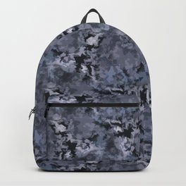 Abstract grey blue camo Backpack