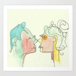 A Kiss In the Garden Art Print