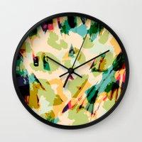 wildlife Wall Clocks featuring Wildlife by Lynsey Ledray