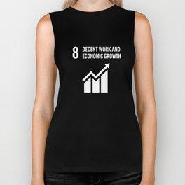 8 Decent Work and Economic Growth Global Goals  Biker Tank