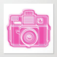 I Still Shoot Film Holga Logo - Pink Canvas Print