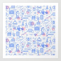 The fans pattern Art Print