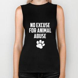 No excuse for animal abuse Biker Tank