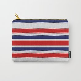 Jagged Spike Pattern Carry-All Pouch