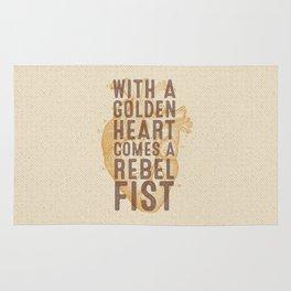 Golden Heart Rug