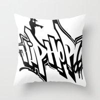hip hop Throw Pillows featuring Hip Hop by Michael Jordan