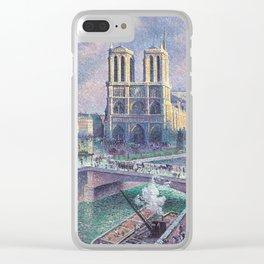 Notre-Dame de Paris by Maximilien Luce, 1900 Clear iPhone Case
