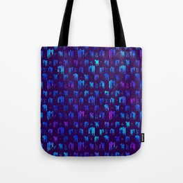 Blue stripes on dark Tote Bag