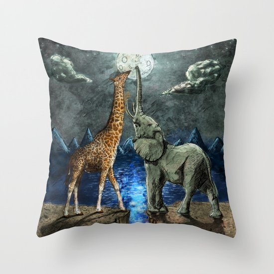 The Magical Forces of the Moon Throw Pillow