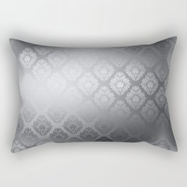 """""""Neutral gray Damask Pattern"""" Rectangular Pillow"""