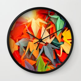 Senbazuru rainbow Wall Clock