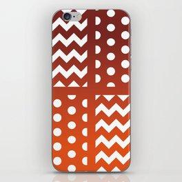 Autumn Gradient/White Chevron/Polkadot Pattern Zigzag Spot Fall Decor #ArtofGaneneK iPhone Skin