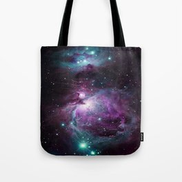 Orion Nebula Purple teal full Tote Bag