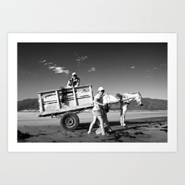 Family With The Cart Art Print
