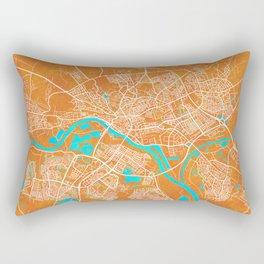 Arnhem, Netherlands, Gold, Blue, City, Map Rectangular Pillow