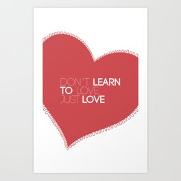 Something about love Art Print