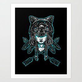 Wolf Spirit: Guarded Art Print
