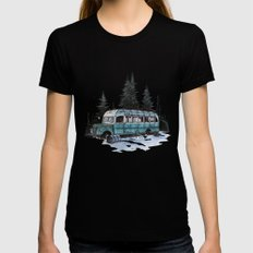 into the wild  Womens Fitted Tee MEDIUM Black