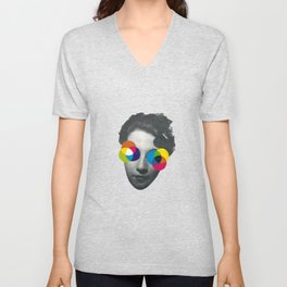 Psychedelic glasses Unisex V-Neck