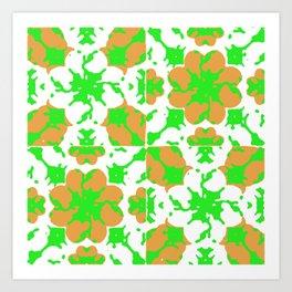 Graphic Floral Pattern Art Print