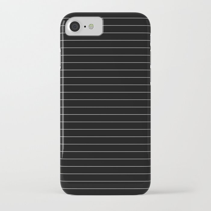 Black White Pinstripe Minimalist iPhone Case