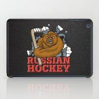 hockey iPad Cases featuring HOCKEY by solomnikov