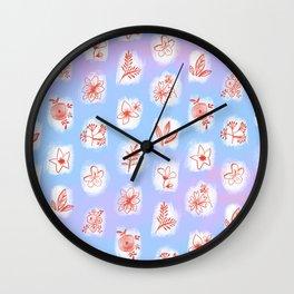 flowers 8 Wall Clock