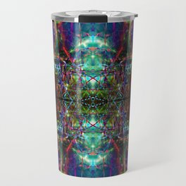 Trippy Kalidescope Pattern Travel Mug