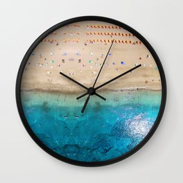 AERIAL. Summer beach Wall Clock